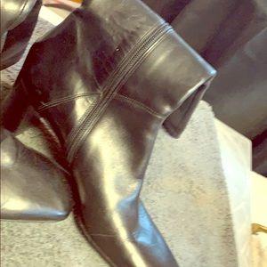 Via Spiga black all leather Boots